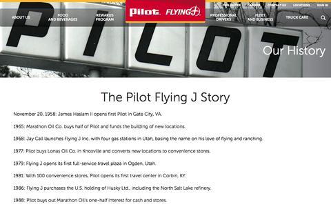 History | Pilot Flying J