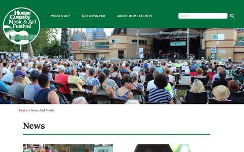 Screenshot of Press Page homecounty.ca - News | Home County - captured Aug. 25, 2017