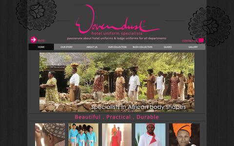 Screenshot of Home Page wovendust.com - Wovendust Uniforms - captured Oct. 18, 2018