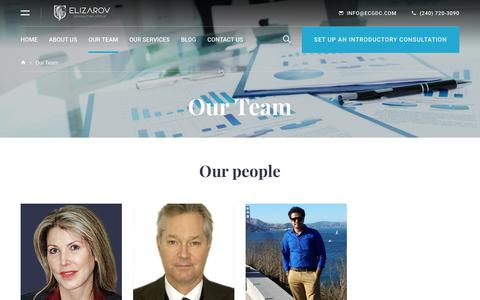 Screenshot of Team Page ecgdc.com - Our Team | Business Consultancy USA | Grow Business in USA | Grow Your Business in USA | Startup Risk Management - captured Sept. 28, 2018