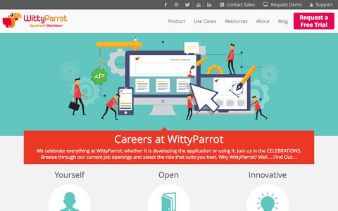 Screenshot of Jobs Page wittyparrot.com - Careers | Engineering Innovators - captured Sept. 17, 2014
