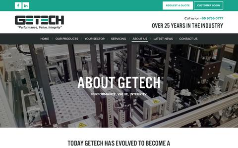 Screenshot of About Page getecha.com - About Getech Automation   Global Electronics Manufacturing Automation - captured Dec. 14, 2018