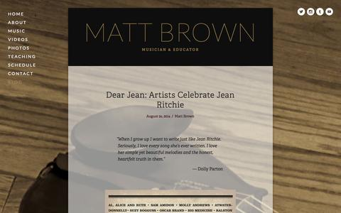 Screenshot of Blog brownsdream.us - Blog — Matt Brown - captured Nov. 2, 2014