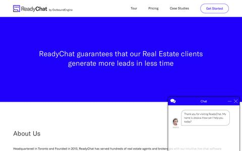 Screenshot of About Page readychat.com - About Us - ReadyChatReadyChat - captured June 23, 2017