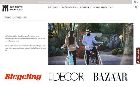 Screenshot of Press Page brooklynbicycleco.com - Bicycle Press Clips | Brooklyn Bicycle Co. - captured June 3, 2017