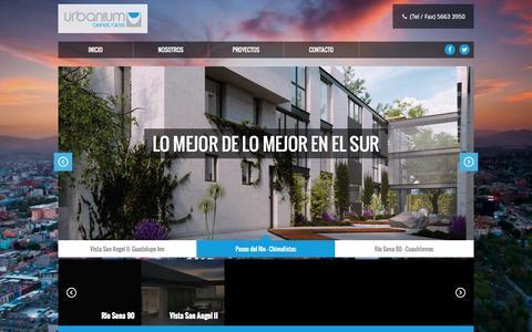 Screenshot of Home Page urbanium.com.mx - Urbanium - captured Jan. 26, 2015