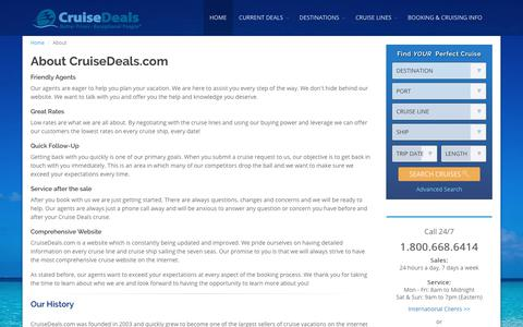Screenshot of About Page Terms Page cruisedeals.com - CruiseDeals.com - captured Aug. 31, 2017