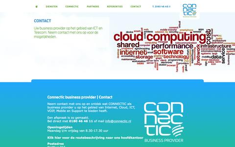 Screenshot of Contact Page connectic.nl - Contact | Connectic - captured Nov. 15, 2016