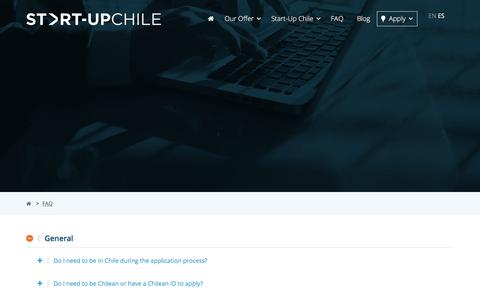 Screenshot of FAQ Page startupchile.org - FAQ – Start-Up Chile - captured June 15, 2017