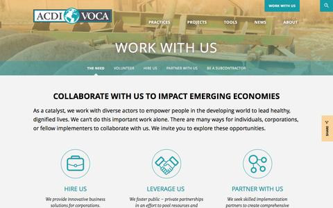 Screenshot of Jobs Page acdivoca.org - Work With Us : ACDI/VOCA - captured July 23, 2016