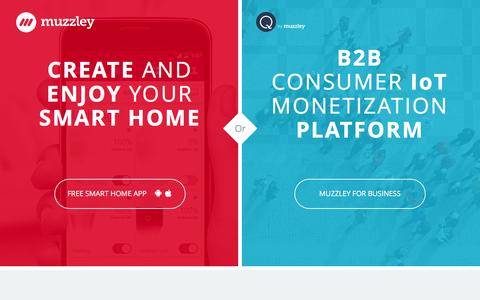 Screenshot of Home Page muzzley.com - Muzzley - Create and Enjoy your Smart Home - captured May 13, 2017