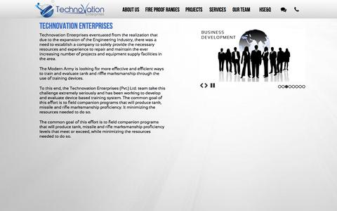 Screenshot of Home Page technovation.pk - Technovation Enterprises - Armed Ranges Fireball in Pakistan - captured Feb. 28, 2016