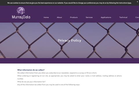 Screenshot of Privacy Page murraydata.co.uk - Murraydata - Privacy Policy - captured Oct. 18, 2018