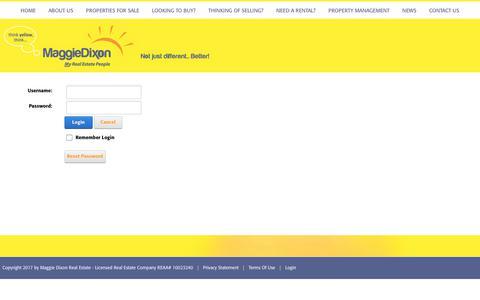 Screenshot of Login Page maggiedixon.co.nz - User Log In - captured Oct. 5, 2017
