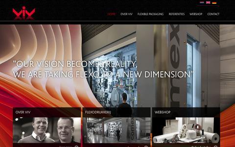 Screenshot of Home Page viv.nl - Verpakkings Industrie Veenendaal - captured Oct. 7, 2014