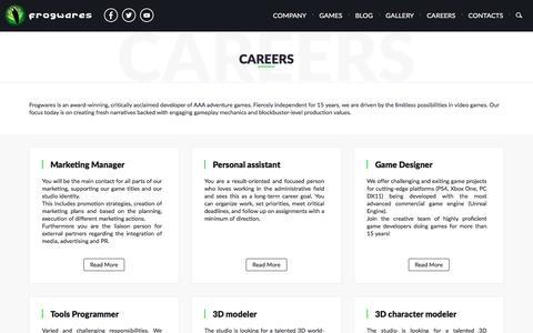 Screenshot of Jobs Page frogwares.com - Careers - Frogwares Game Development Studio - captured Aug. 4, 2016