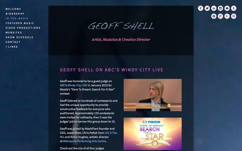 Screenshot of Press Page geoffshell.com - IN THE MEDIA — Geoff Shell - captured Oct. 2, 2014