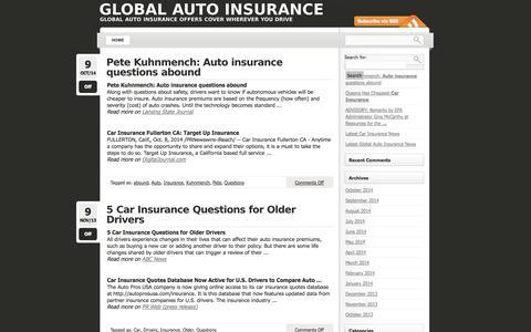 Screenshot of FAQ Page elmediaglobal.com - Questions « Global auto insurance - captured Oct. 28, 2014