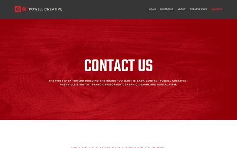 Screenshot of Contact Page powellcreative.com - Contact – Powell Creative - captured Aug. 17, 2017