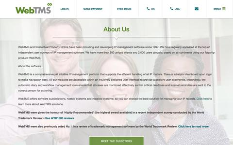 Screenshot of About Page webtms.com - About Us - Web TMS - captured Sept. 20, 2019