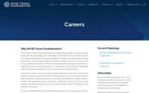 Screenshot of Jobs Page wysetc.org - Careers - WYSE Travel Confederation - captured Dec. 17, 2017