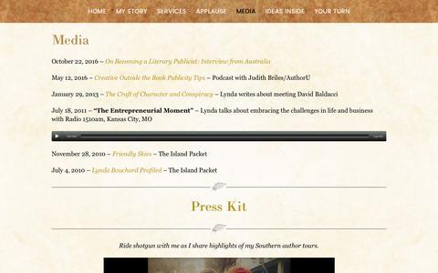 Screenshot of Press Page bookingauthorsink.com - Media | Booking Authors Ink - captured June 2, 2017