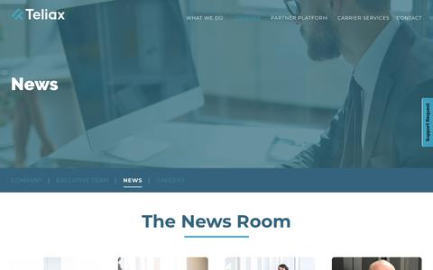 Screenshot of Press Page teliax.com - NewsTechnology, Industry & Company News   Teliax - captured Oct. 20, 2018