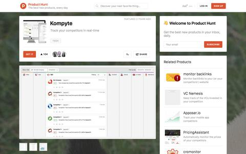 Kompyte - Product Hunt