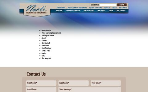 Screenshot of Site Map Page noctibusiness.com - Sitemap - Nocti Business Solutions - captured Feb. 15, 2016