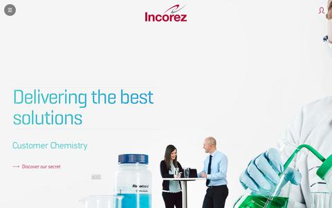 Screenshot of About Page incorez.com - About Us   Incorez   Oxazolidine, Waterborne Epoxy, Waterborne Polyurethane, Polyurethane - captured Oct. 11, 2018