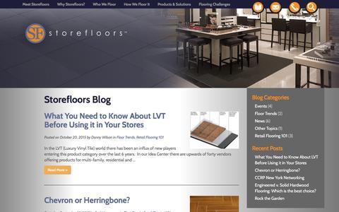 Screenshot of Blog storefloors.com - Blog - Storefloors - captured Feb. 25, 2016
