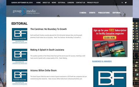 Screenshot of Press Page groupc.com - Editorial - Group C Media, Inc.   Building Inspiration - captured Sept. 30, 2018