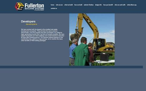 Screenshot of Developers Page fullertonbuildingsystems.com - developers | Fullerton Building Systems -  their worked - captured Jan. 8, 2016