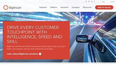 The #1 Sales Enablement Platform | Bigtincan