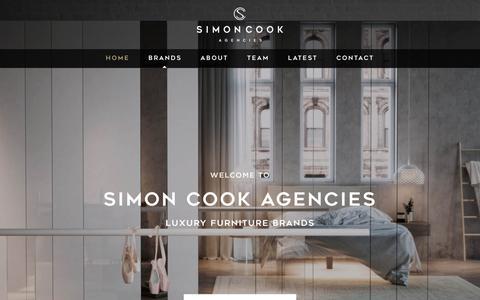 Screenshot of Home Page simoncookagencies.co.uk - Simon Cook Agencies - Luxury Furniture Brands - captured Dec. 10, 2018