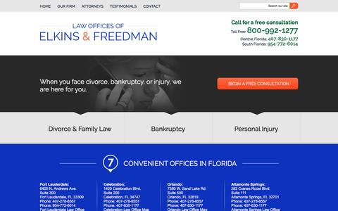 Screenshot of Privacy Page elkinsandfreedman.com - Privacy Policy | The Law Offices of Elkins & Freedman | Fort Lauderdale & Orlando, Florida - captured March 4, 2016