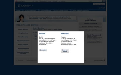 Screenshot of FAQ Page combined.ca - FAQs: Answers About Supplemental Insurance - What Is It? | Combined - captured April 17, 2016
