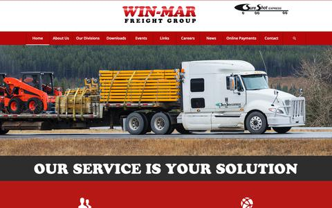 Screenshot of Home Page win-mar.com - Win-Mar Freight Systems | Freight Management | Winnipeg Manitoba - captured Oct. 19, 2018