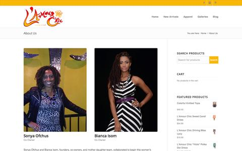Screenshot of About Page lamourchicboutique.com - Lamour Chic Boutique |   About Us - captured Oct. 27, 2014