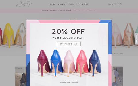 Screenshot of Home Page shoesofprey.com - Design custom made shoes - Shoes of Prey - captured July 19, 2016