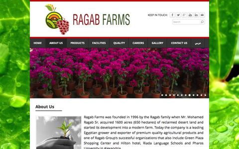 Screenshot of About Page ragabfarms.com - About Us - Ragab Farms - captured Feb. 22, 2016