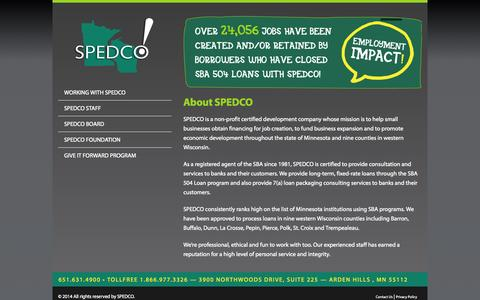 Screenshot of About Page spedco.com - About SPEDCO - SPEDCO - captured Sept. 30, 2014