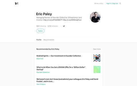 Eric Paley – Medium