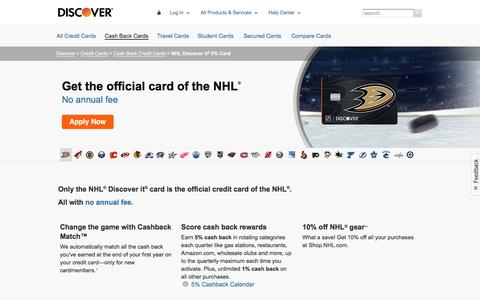 NHL Discover it Card | Discover