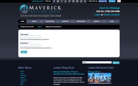 Screenshot of Login Page maverickinvestorgroup.com - User account | maverickinvestorgroup.com - captured Aug. 10, 2016