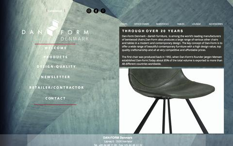 Screenshot of Products Page dan-form.com - Furniture | We sell Danish designed furniture to offices and homes - captured Nov. 23, 2016