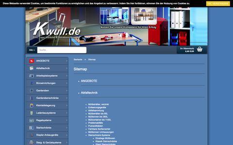 Screenshot of Site Map Page kwull.de - Sitemap - captured Dec. 20, 2018