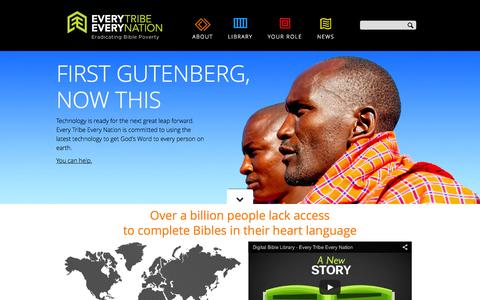Screenshot of Home Page everytribeeverynation.org - Every Tribe Every Nation - captured Sept. 12, 2015