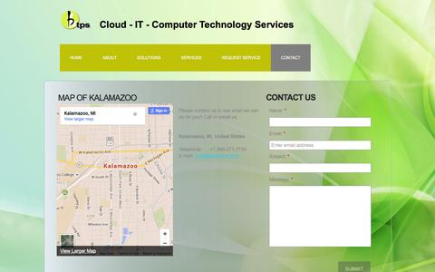 Screenshot of Contact Page btpsonline.com - Contact - Business Technology and Payment Solutions - captured Feb. 8, 2016
