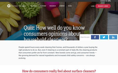 CPG – Quiz – Surface Cleaners – Crimson Hexagon